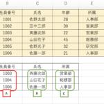 エクセル関数を使ったデータの抽出方法(VLOOKUP、MATCH+INDEX)